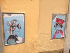 フィレンツェの裏道の壁