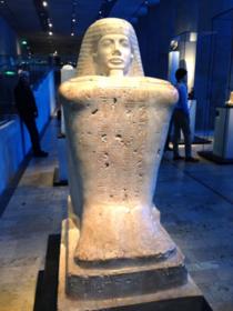 古代エジプトの神アモンの石像
