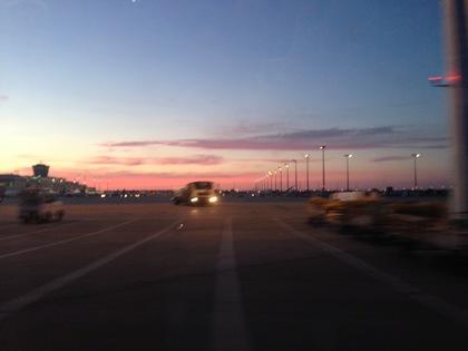 午後9時半過ぎの西の空
