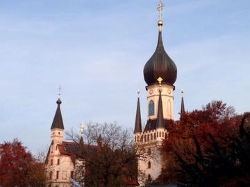 散歩道にあるロシア正教の教会