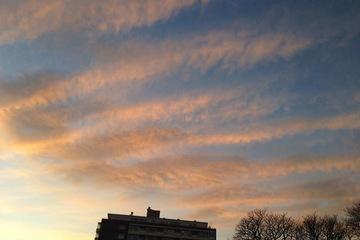 ドイツの冬の夕焼け空①