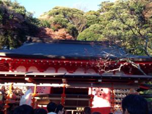 元旦の荏柄天神社(鎌倉)2016