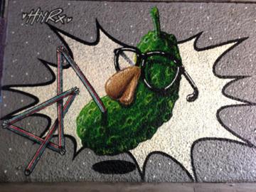 ドイツの壁面アート