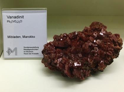 ドイツの鉱物博物館の展示物1