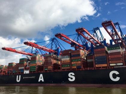 ハンブルクの港の風景 2