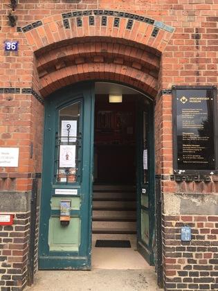 シュパイヒャーシュタット博物館の入口前