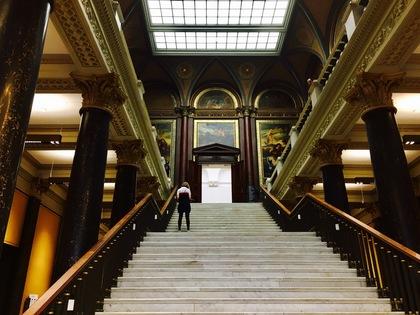 ハンブルク美術館の入場口正面