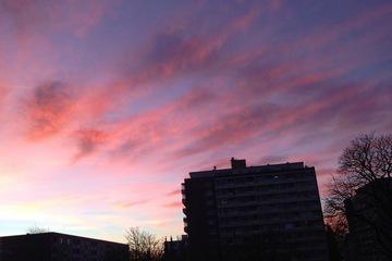 ドイツの冬の夕焼け空②